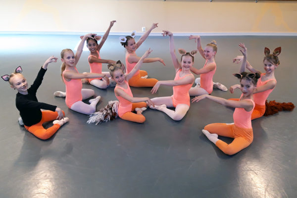 Baletti2 -ryhmän treenit